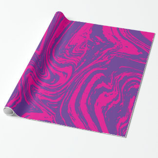 Pink purple abstract digital pattern Paper Roll