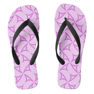 Pink purple abstract triangles flip flops