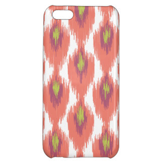 Pink Purple Abstract Tribal Ikat Diamond Pattern iPhone 5C Cases