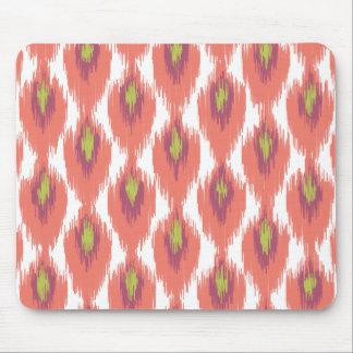 Pink Purple Abstract Tribal Ikat Diamond Pattern Mouse Pad