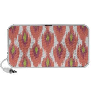 Pink Purple Abstract Tribal Ikat Diamond Pattern Mp3 Speaker