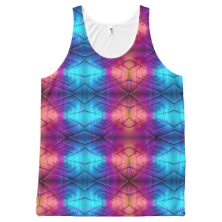 Pink, Purple And Blue Gradient Pattern All-Over Print Tank Top