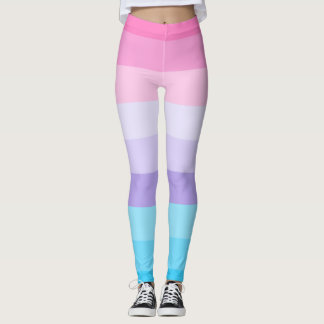 Pink, Purple, and Blue Ombre Leggings