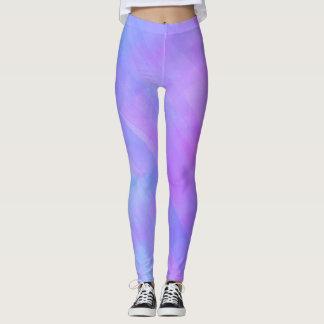 Pink, Purple, and Blue Watercolor Leggings