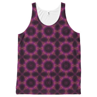 Pink Purple And Orange Kaleidoscope Pattern All-Over Print Tank Top