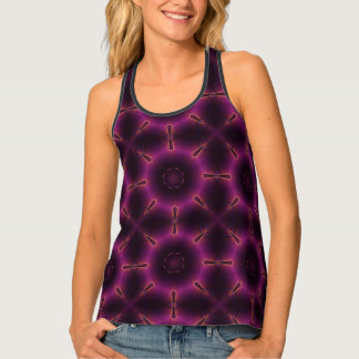 Pink Purple And Orange Kaleidoscope Pattern Tank Top