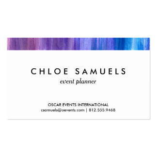 Pink purple aqua paint strokes watercolor painting pack of standard business cards