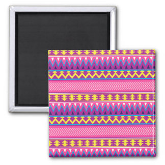 Pink & Purple Aztec Tribal Borders Refrigerator Magnet