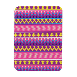 Pink & Purple Aztec Tribal Borders Flexible Magnets
