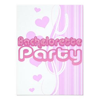 pink purple bachelorette wedding bridal party fun 14 cm x 19 cm invitation card