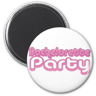 pink purple bachelorette wedding bridal party fun magnets
