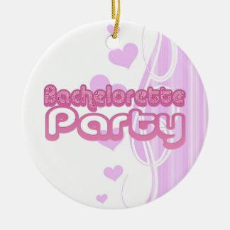 pink purple bachelorette wedding bridal party fun ornament