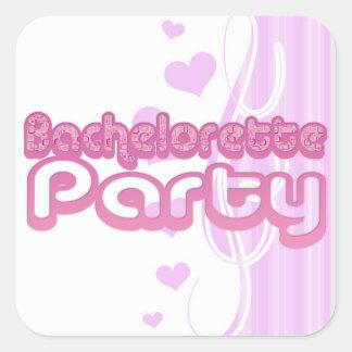 pink purple bachelorette wedding bridal party fun sticker