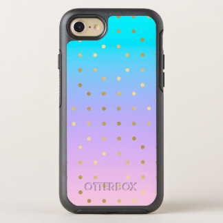 Pink & Purple Background & Gold Polka Dots OtterBox Symmetry iPhone 7 Case