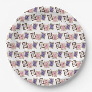 Pink Purple Bake Sale Toaster Pastry Breakfast Paper Plate