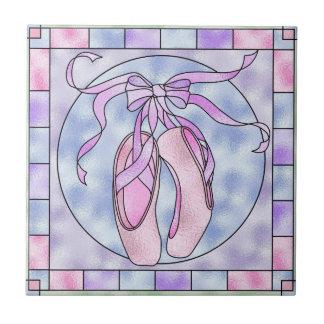 Pink & Purple Ballet Pointe Shoes Keepsake Tiles