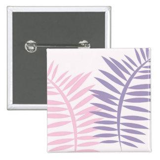 Pink & Purple Blades of Leaves 15 Cm Square Badge
