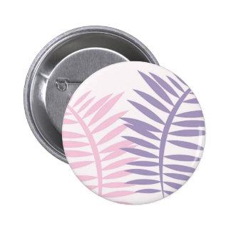 Pink & Purple Blades of Leaves 6 Cm Round Badge