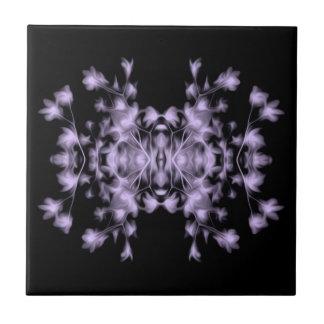 Pink Purple Blue Floral Graphic Pattern Tile