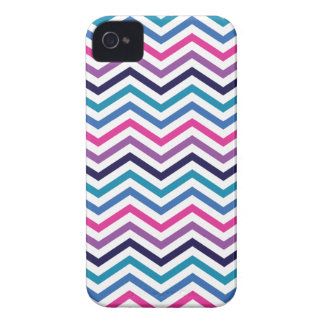 Pink Purple Blue Zigzag Chevron iPhone 4 Case-Mate Case