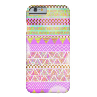 Pink Purple Bright Ethnic Abstract Bokeh Pattern Barely There iPhone 6 Case