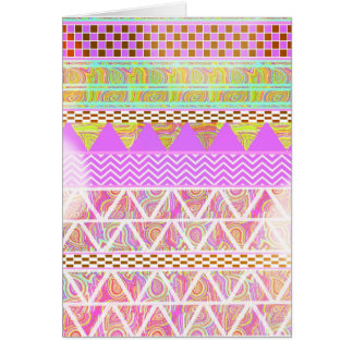 Pink Purple Bright Ethnic Abstract Bokeh Pattern Card