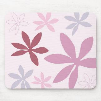 Pink, Purple & Burgundy Flower Petals Mouse Mat
