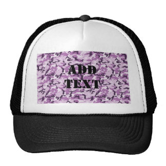 Pink & Purple Camouflage Background Cap
