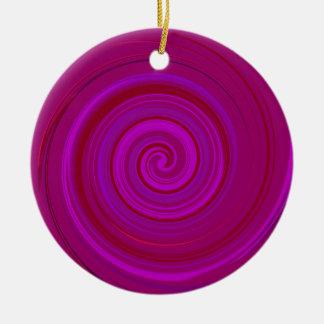 Pink Purple Candy  Swirl  > Round Ornament
