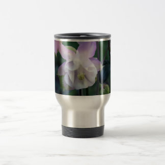 Pink Purple Columbine flowers Travel Mug
