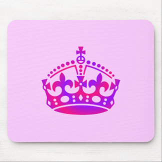 PINK & Purple Crown Tiara Mouse Pad