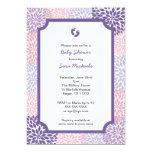 "Pink Purple Dahlia Girl Baby Shower Invites 5"" X 7"" Invitation Card"