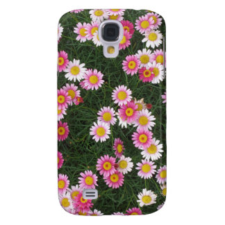 Pink & Purple Daisies Flowers Galaxy S4 Case