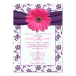 Pink Purple Daisy First Communion Invitation 13 Cm X 18 Cm Invitation Card