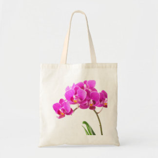Pink Purple Dendrobium Orchid Tropical Flower Budget Tote Bag