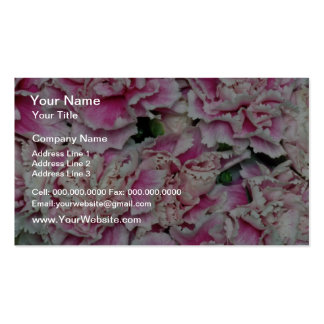 Pink Purple Elegance miniature carnations flowers Business Card Template