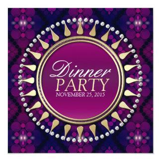 Pink Purple Exotic Sun Dinner Party Invitation