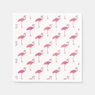 Pink Purple Flamingo Watercolor Tropical Flamingos Disposable Serviette