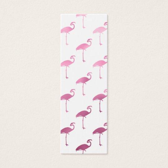 Pink Purple Flamingo Watercolor Tropical Flamingos Mini Business