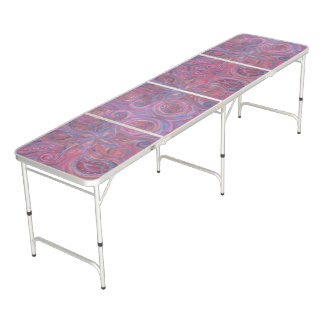pink purple flower paisley folding table