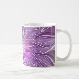 Pink Purple Flower Passion Abstract Fractal Art Coffee Mug