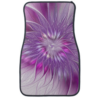 Pink Purple Flower Passion Abstract Fractal Art Floor Mat