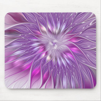 Pink Purple Flower Passion Abstract Fractal Art Mouse Mat