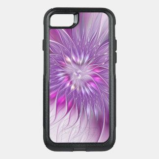 Pink Purple Flower Passion Abstract Fractal Art OtterBox Commuter iPhone 8/7 Case