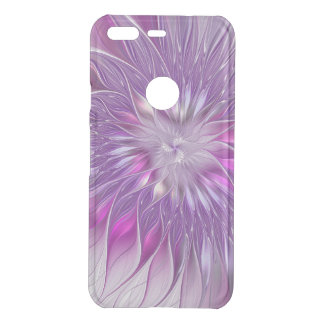 Pink Purple Flower Passion Abstract Fractal Art Uncommon Google Pixel Case