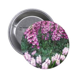 PINK Purple Flower Show: Love Sensual Romance Gift 6 Cm Round Badge