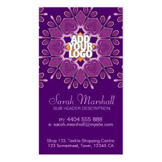 Pink+Purple Geometric Flower Business Card