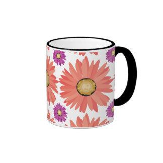 Pink Purple Gerber Daisy Flowers Floral Pattern Mugs