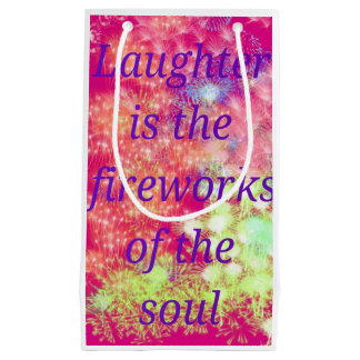 Pink & Purple Gift Bag with Fireworks