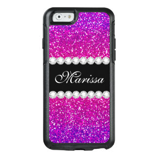 Pink Purple Glitter Ombre Cool Girly Bling Pattern OtterBox iPhone 6/6s Case